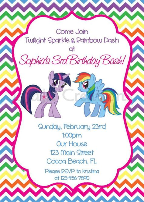 printable birthday invitations my little pony my little pony birthday invitation printable twilight