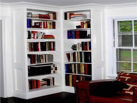 built in corner bookshelves how to build decorative