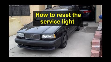 reset  service light   volvo      year models auto care