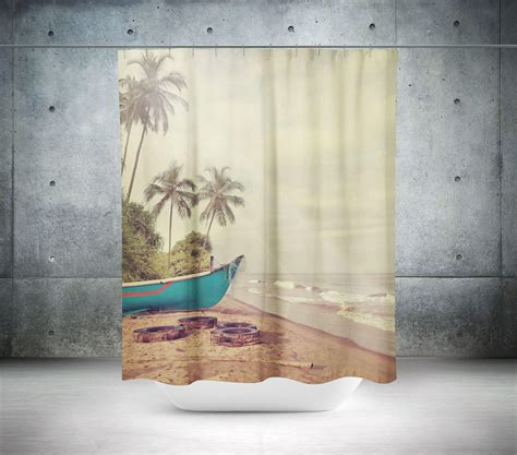 beach theme shower curtain coastal shower curtain beach shower curtain beach theme