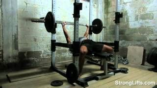 bench press stronglifts stronglifts youtube