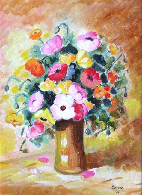 vasi di fiori immagini mariarosaria bellone dipinti colori emozioni