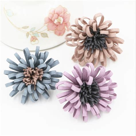 Handmade Wool Flowers - new arrival 20pcs handmade wool felt flowers flatback diy