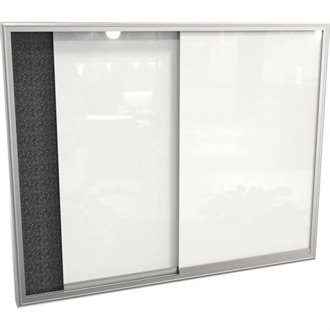 dry erase board cabinet visionary glass sliding enclosed cabinet