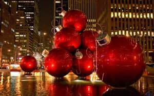 download wallpaper red christmas tree ornaments new york