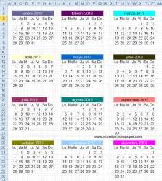Calendario De Gestacion Calendario 2013 Con Semanas Numeradas Excel Imagui