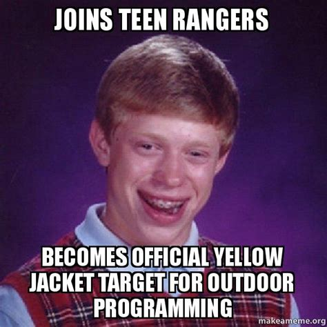 Yellow Jacket Girl Meme - joins teen rangers becomes official yellow jacket target