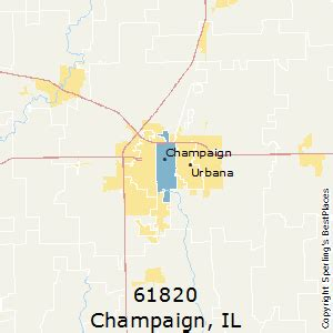 Champaign Il Zip Code Map by Best Places To Live In Champaign Zip 61820 Illinois