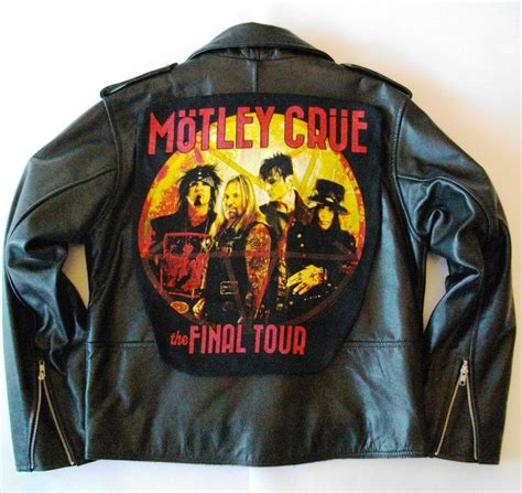 Moutley Jacket metalworks motley crue tour leather jacket 80 s