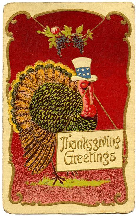 vintage thanksgiving clip art patriotic turkey  graphics fairy