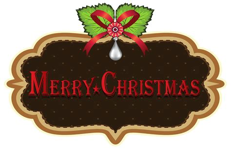 merry christmas label png clipart  web clipart