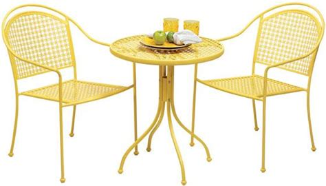 Yellow Bistro Table And Chairs Bistro Patio Sets For Tiny Spaces Toronto Designers