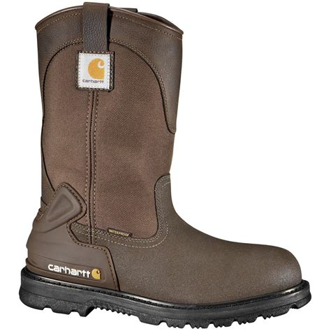 mud boots s carhartt 174 11 quot waterproof steel toe mud wellington work boots brown 589535