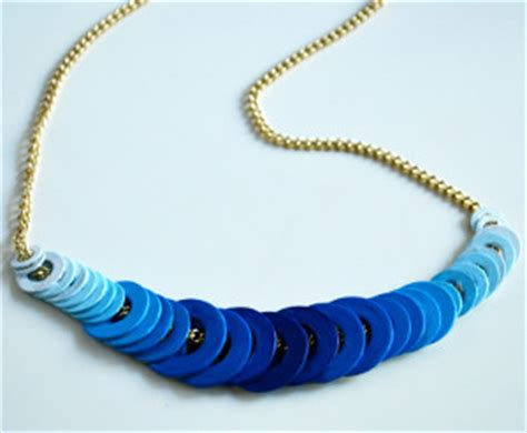 how to make jewelry from recycled materials ombre washer necklace allfreejewelrymaking