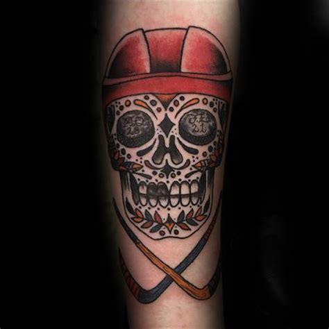 hockey tattoos designs 75 hockey tattoos for nhl design ideas