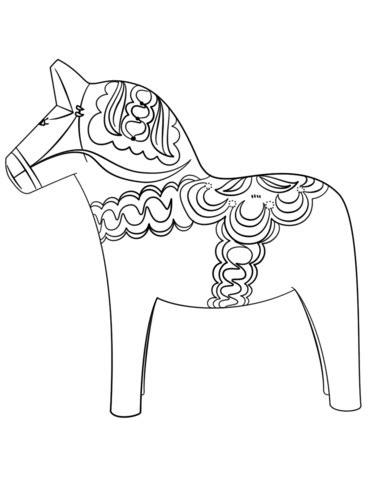 dala horse coloring page generous dala horse template ideas resume ideas www