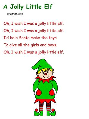 christmss preschool poems song a jolly