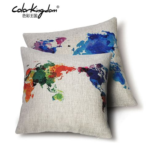 designer sofa cushions aliexpress com buy custom made color world map sofa