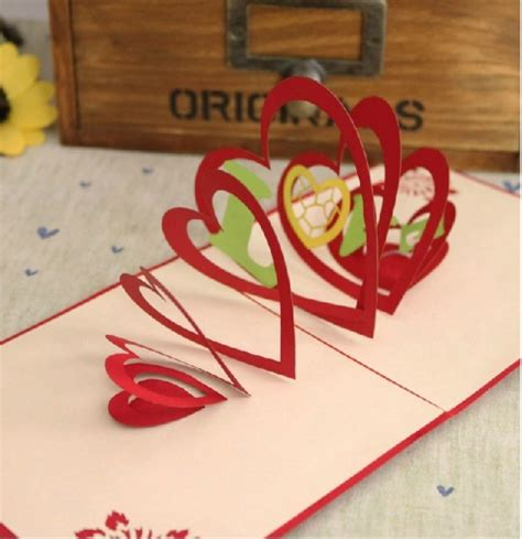Handmade Creative Greeting Cards - how to make pop up handmade cards