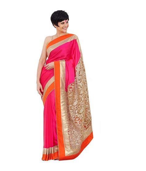 Buy Zara Gift Card Online - zara creation pink satin saree buy zara creation pink satin saree online at low
