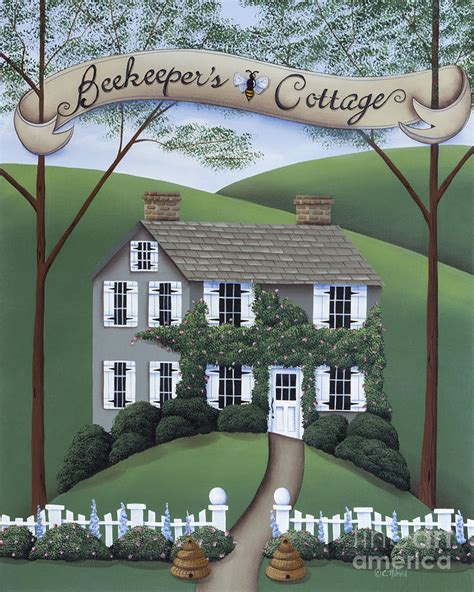 Beekeepers Cottage by Beekeeper S Cottage Painting By Catherine Holman