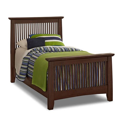 value city twin beds arts crafts dark ii kids furniture twin bed value city