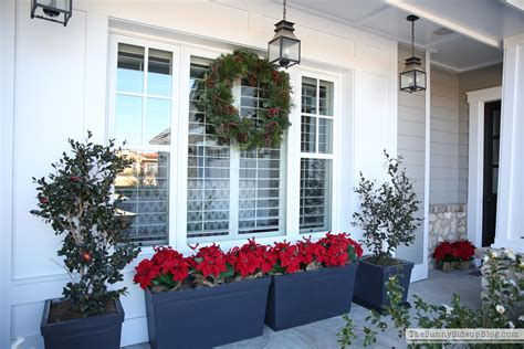 poinsettia on porch home tour part 1 the side up