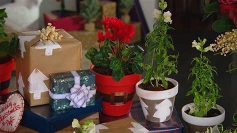 christmas flower pots  homes  gardens