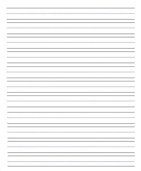 kindergarten lined writing paper template 13 lined paper templates in pdf free premium templates