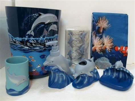 Dolphin Bathroom Accessories I Can Be At The Sea In My Own Bath Dolphin Sea Bath Set 9pc Shower Curtain Hooks Towels
