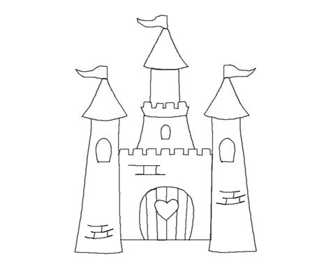 castle drawing template princess princess castle outline embroidery design sweet