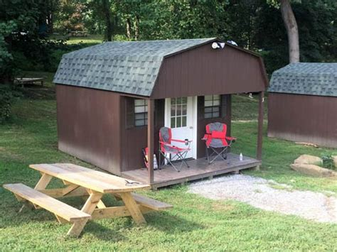 cabin rentals at harpers ferry adventure center