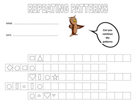 continuing patterns ks1 shape repeating patterns using shape and colour by alexabennett