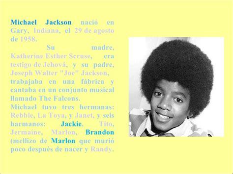 michael joseph jackson biography en ingles la vida de michael jackson