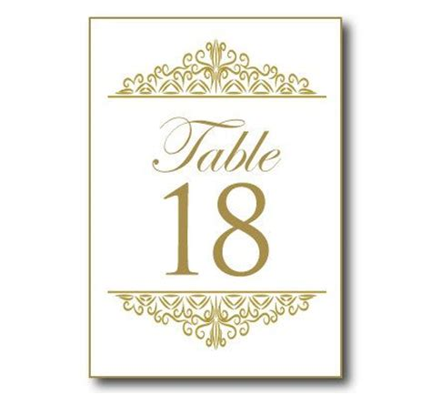 Table Numbers Template Wedding Table Number Template Word Need Table Numbers