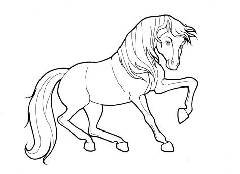 coloring page of horse running printable color pages of horses activity shelter