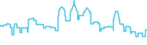 philadelphia skyline outline cliparts co
