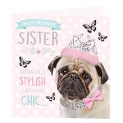 pug birthday card greeting cards
