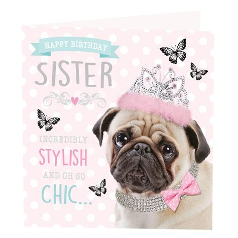 happy birthday pug card pug birthday card greeting cards