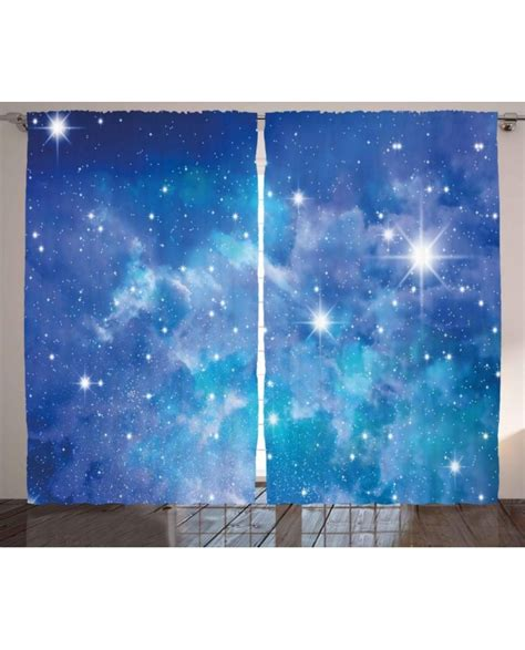 planet curtains space curtain planet star clusters print 2 panel window drapes