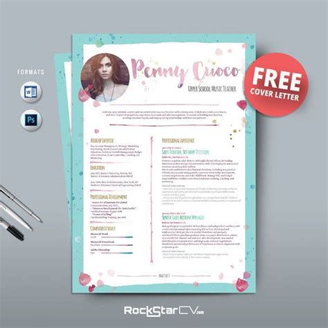 free editable creative resume templates word 51 best images about rockstarcv resume templates on free cover letter