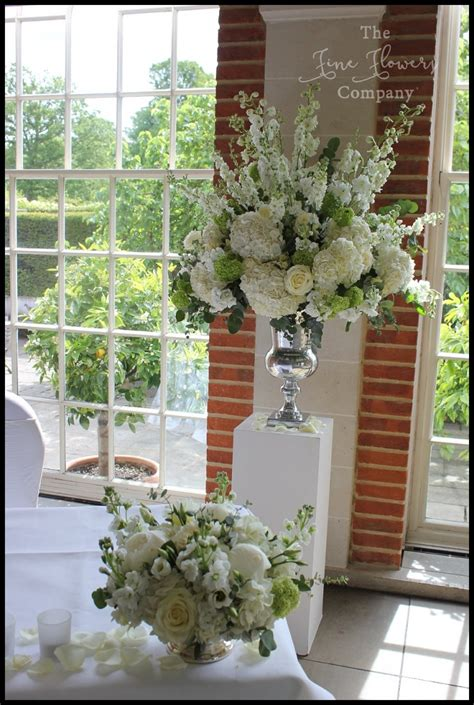 Green Weddings With The Carbonneutral Company Hippyshopper by Classic White Green Wedding Flowers At Great Fosters