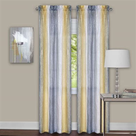 Yellow Gray Curtains Sun Zero Plum Tom Thermal Lined Curtain Panel 40 In W X 63 In L 43523 The Home Depot