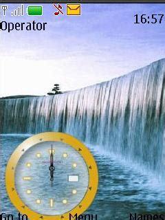 java themes with tone download waterfall clock tone theme nokia theme mobile