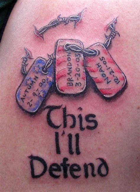 dog tags tattoo designs tag tattoos