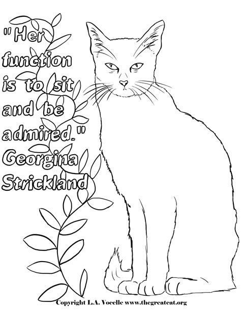 chinese cat coloring page free coloring pages the great cat
