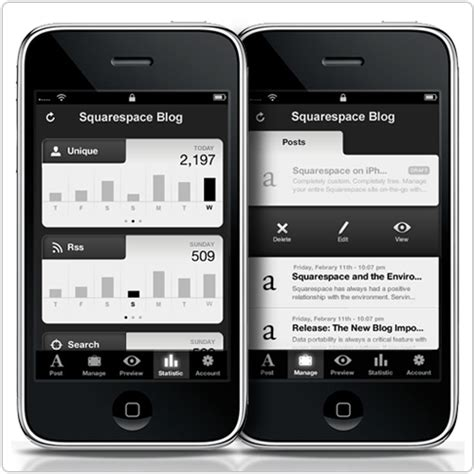 The Squarespace Iphone App Is Live The Official Squarespace Blog Squarespace App Template