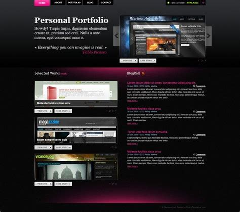 25 best css html portfolio website templates free web