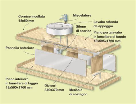 mobile bagno fai da te come costruire un lavabo da appoggio bricoportale fai