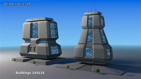 building concept solid buildings concept art